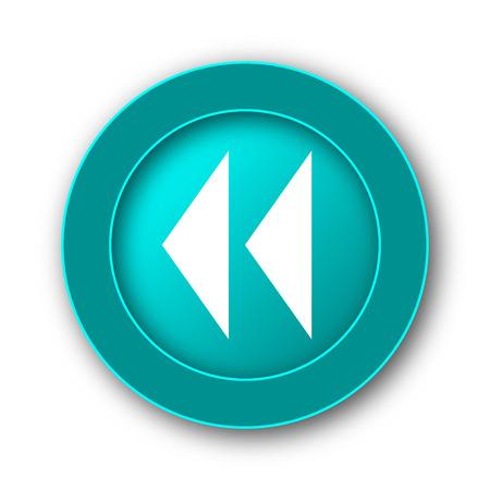 rewind: Rewind icon. Internet button on white background Stock Photo