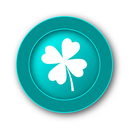 clover icon: Clover icon. Internet button on white background