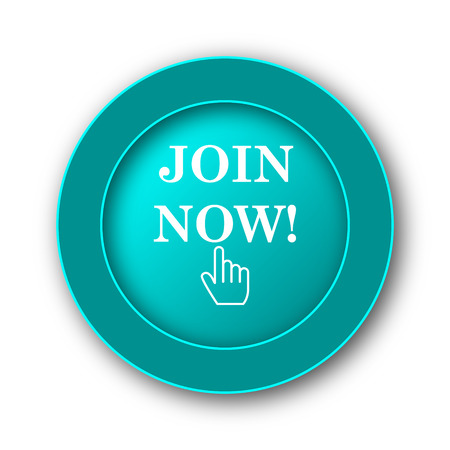 join now: Join now icon. Internet button on white background Stock Photo