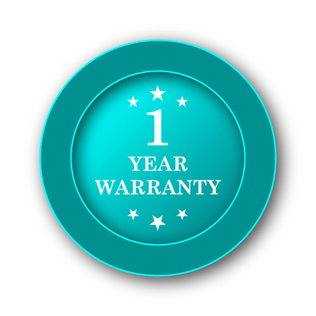 1 year warranty: 1 year warranty icon. Internet button on white background Stock Photo