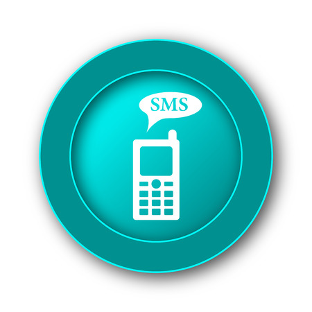 gsm phone: SMS icon. Internet button on white background