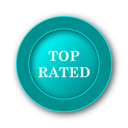 top class: Top rated  icon. Internet button on white background Stock Photo