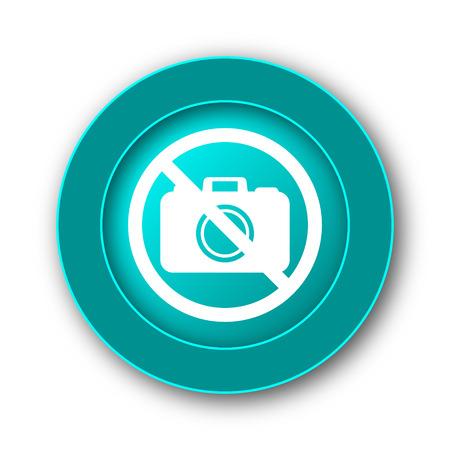 forbid: Forbidden camera icon. Internet button on white background