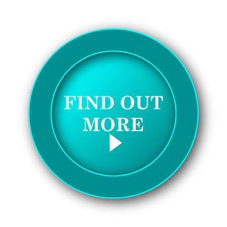 find out: Find out more icon. Internet button on white background Stock Photo