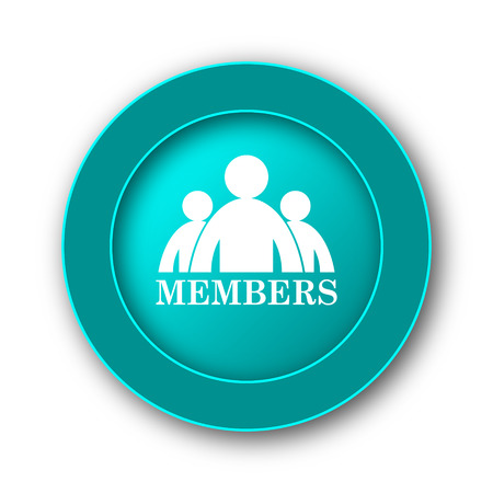 grant: Members icon. Internet button on white background Stock Photo