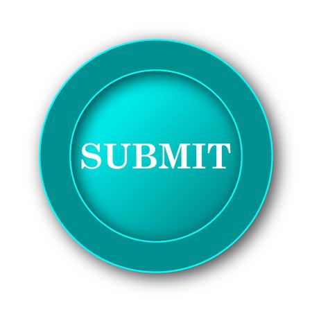 submit: Submit icon. Internet button on white background