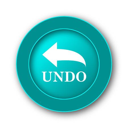 undo: Undo icon. Internet button on white background