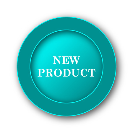 office products: New product icon. Internet button on white background Stock Photo