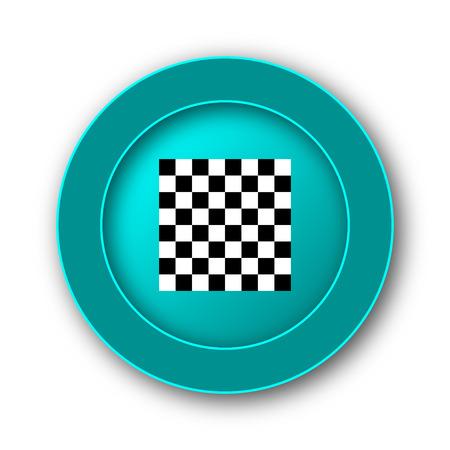 finish flag: Finish flag icon. Internet button on white background Stock Photo