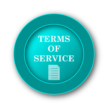 term and conditions: Terms of service icon. Internet button on white background