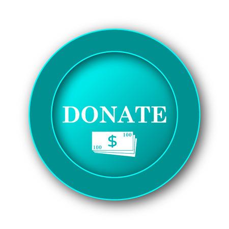 aiding: Donate icon. Internet button on white background