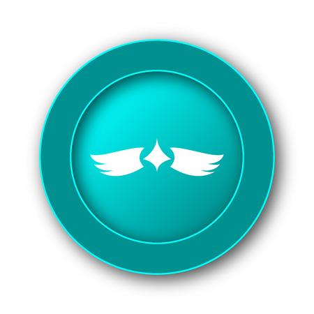 virtue: Wings icon. Internet button on white background Stock Photo