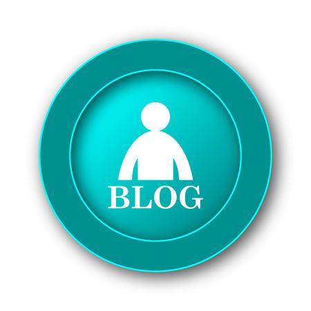 seeking: Blog icon. Internet button on white background Stock Photo