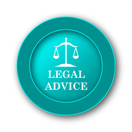injustice: Legal advice icon. Internet button on white background