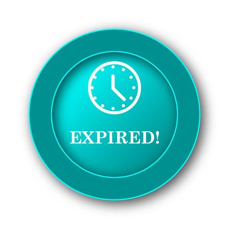 expired: Expired icon. Internet button on white background