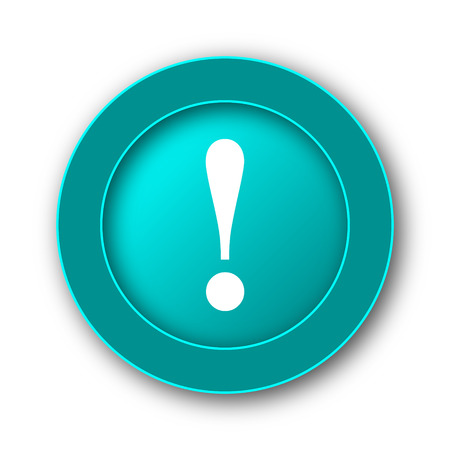 attention icon: Attention icon. Internet button on white background
