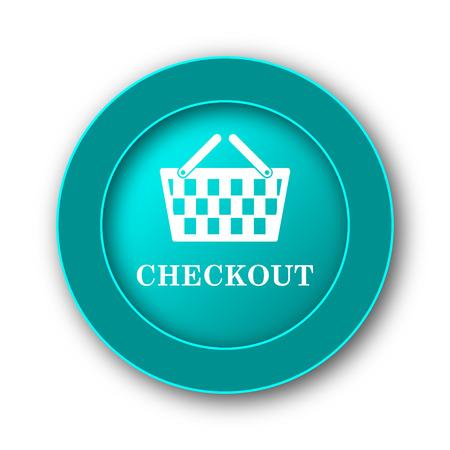 checkout button: Checkout icon. Internet button on white background