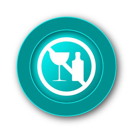 forbid: No alcohol icon. Internet button on white background Stock Photo