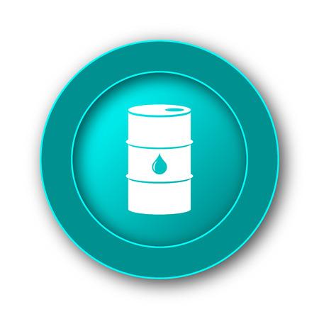 barrell: Oil barrel icon. Internet button on white background