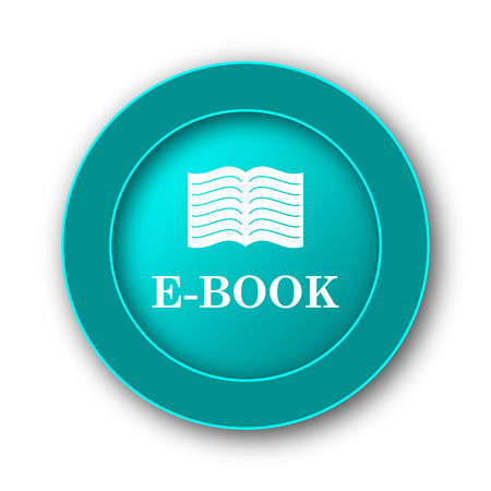 E-book icon. Internet button on white background