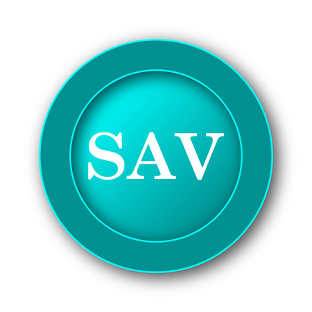 assessed: SAV icon. Internet button on white background