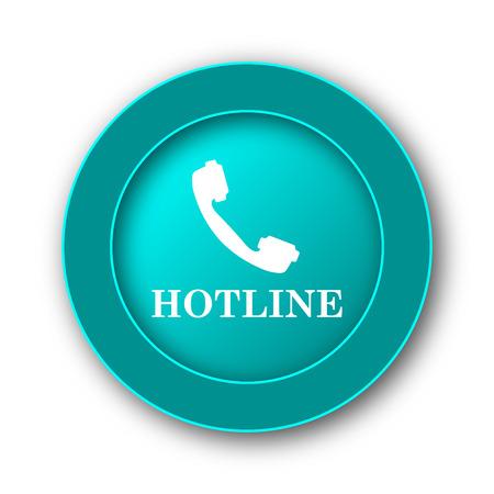 hotline: Hotline icon. Internet button on white background
