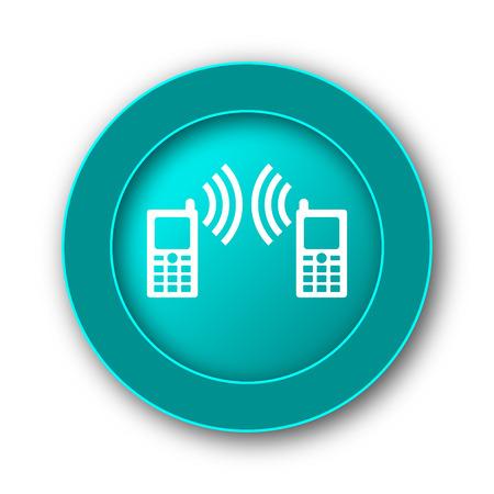 palmtop: Communication icon. Internet button on white background