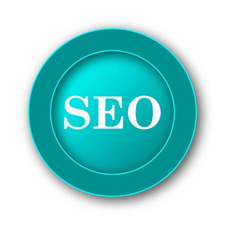 SEO icon. Internet button on white background photo