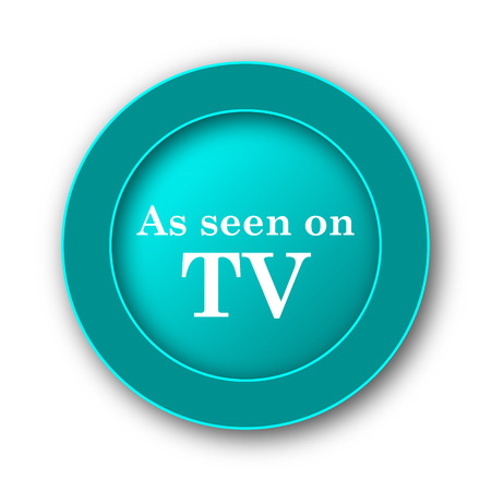 cliche: As seen on TV icon. Internet button on white background