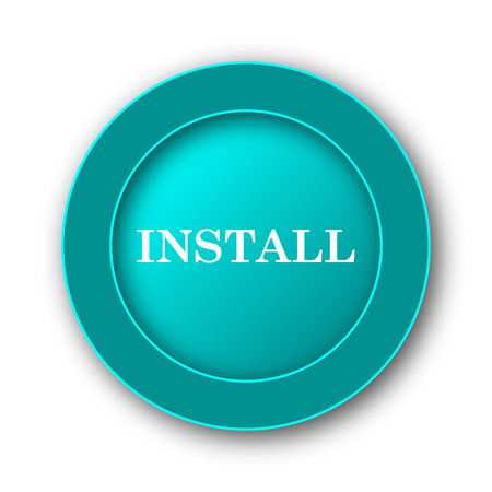 operative: Install icon. Internet button on white background