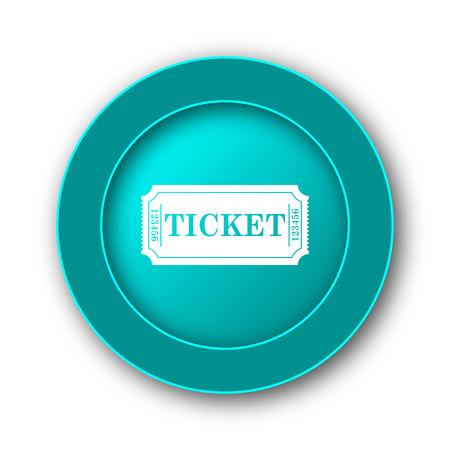 releasing: Cinema ticket icon. Internet button on white background