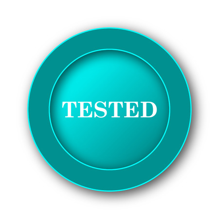 tested: Tested icon. Internet button on white background