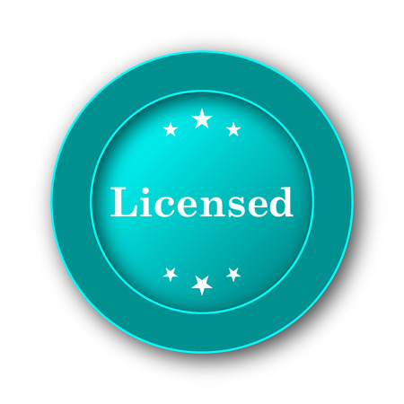 licensed: Licensed icon. Internet button on white background