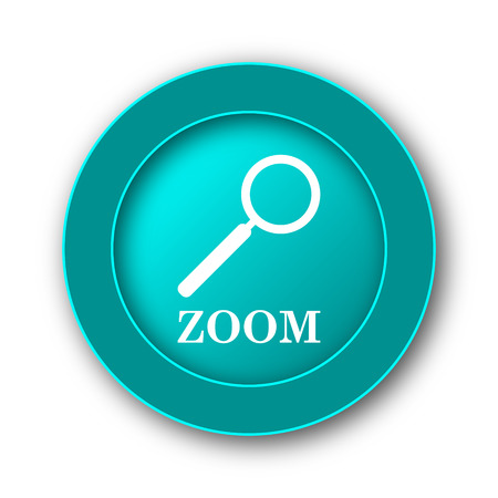 loupe: Zoom with loupe icon. Internet button on white background