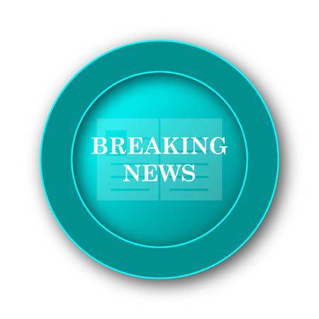 newsflash: Breaking news icon. Internet button on white background Stock Photo