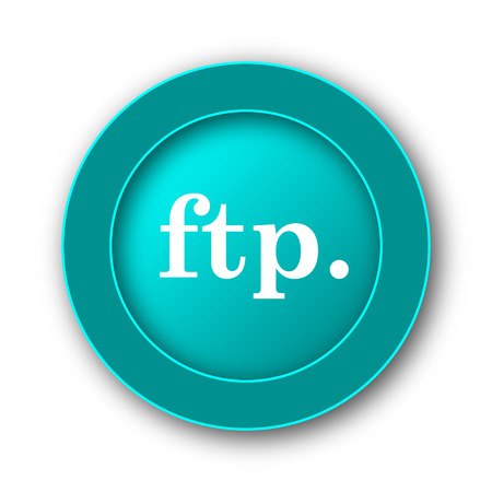 ftp: ftp. icon. Internet button on white background Stock Photo
