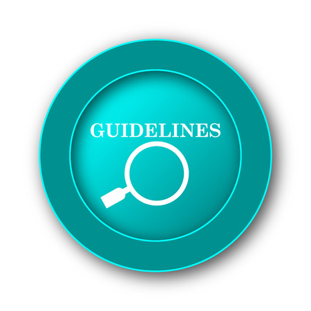 guideline: Guidelines icon. Internet button on white background