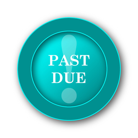 due: Past due icon. Internet button on white background