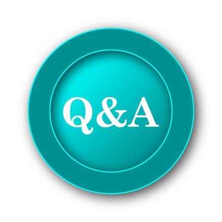 qa: Q&A icon. Internet button on white background Stock Photo