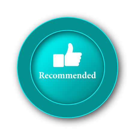 recommendations: Recommended icon. Internet button on white background