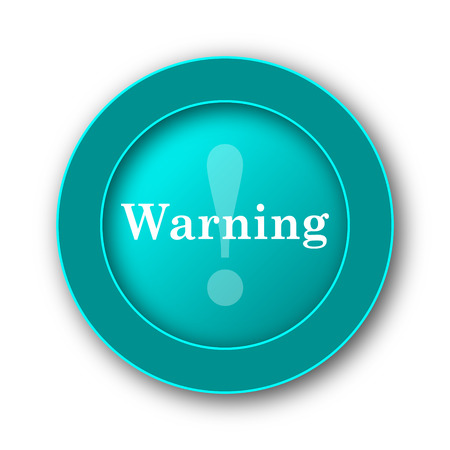 jeopardy: Warning icon. Internet button on white background
