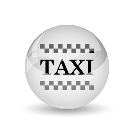 Taxi icon. Internet button on white background photo