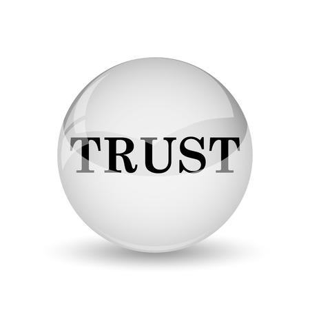 trust icon: Trust icon. Internet button on white background Stock Photo