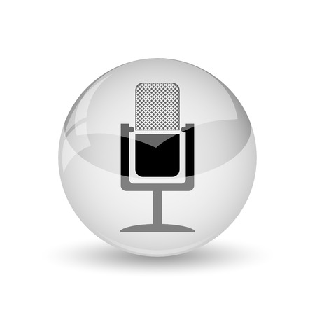 air show: Microphone icon. Internet button on white background Stock Photo