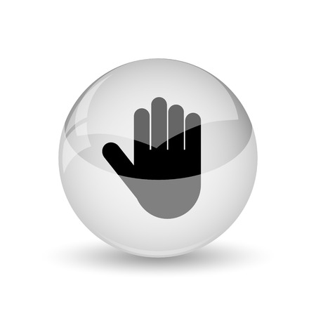 restrictive: Stop icon. Internet button on white background