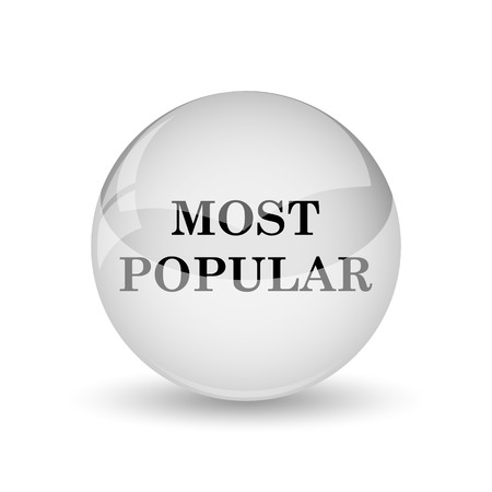 most popular: Most popular icon. Internet button on white background Stock Photo