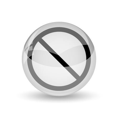 forbidden: Forbidden icon. Internet button on white background