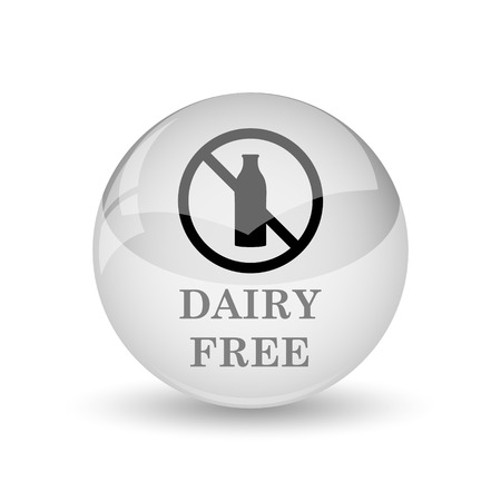 intolerant: Dairy free icon. Internet button on white background
