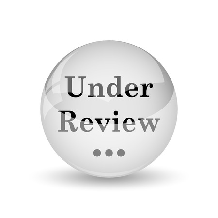 canceled: Under review icon. Internet button on white background
