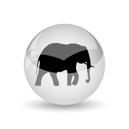 endanger: Elephant icon. Internet button on white background